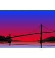 City bridge background vector image