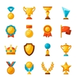Sport or business trophy award icons set vector image vector image