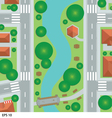 Road map city top view vector image