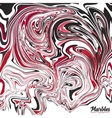 Black red and white marble abstract vector image vector image