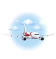 A cruising plane vector image