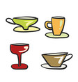beverage glassware vector image