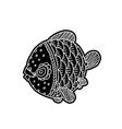 cartoon comics sea or river fish vector image