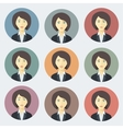 Emotions of Business Woman vector image