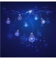 Energy saving concept blue lights vector image