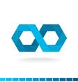 Hex infinity logo vector image