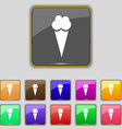 Ice Cream icon sign Set with eleven colored vector image