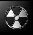 radiation round sign gray 3d printed icon vector image
