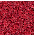 Red roses Seamless floral background vector image