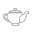 teapot elegant isolated icon vector image