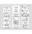 Boho style cards collection vector image