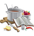 cooking soup vector image vector image