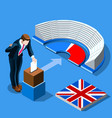 uk election concept english people vote and vector image
