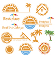 Season summer emblems design vector image