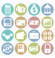 white icons finance vector image