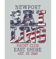 Newport sailing club vector image vector image
