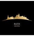 Bath England city skyline silhouette vector image vector image
