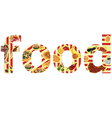 inscription with food vector image vector image