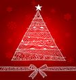 christmas tree1 vector image vector image