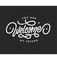 Welcome lettering title vector image