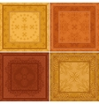 Abstract pattern background tile set vector image