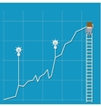 Businessman on a ladder vector image