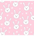 Cute seamless pattern with rabbit in childish styl vector image
