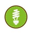 energy saving lamp light bulb green circle vector image