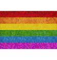 Gay pride mosaic flag vector image
