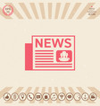 newspapers symbol icon vector image