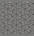 seamless overlap hexagon pattern vector image