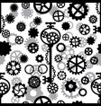 seamless pattern with gears and key with chain vector image