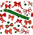 Seamless texture with Chrestmas red bows vector image