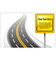 sign road vector image
