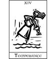 Temperance Tarot Card vector image