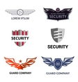 Template logo for security organization vector image