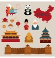 Travel to China icons vector image
