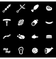 white meat icon set vector image