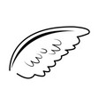 wing feather bird angel decoration abstract symbol vector image