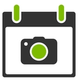 Photo Camera Calendar Day Flat Icon vector image