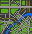 map of city vector image