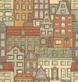Seamless urban pattern vector image