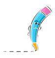 sad pencil vector image