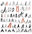 Set of 50 varied hand drawing letters A Can be vector image