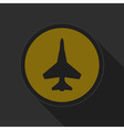 dark gray and yellow icon - fighter vector image