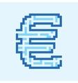 Euro business flat blue maze vector image vector image