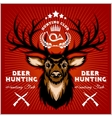 Deers Hunting club emblems set vector image