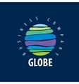 Earth logo template Globe sign vector image