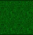 Green line bitcoin seamless pattern vector image