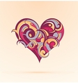 Heart-shape design vector image